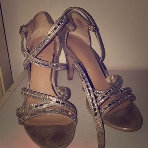 Women's Sparkly and Strappy Dress Heels Sz 9